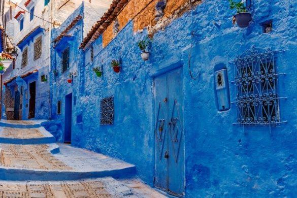 Die blaue Stadt Chefchaouen in Marokko