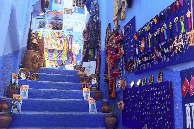 Medina in der blauen Stadt Chefchaouen in Marokko