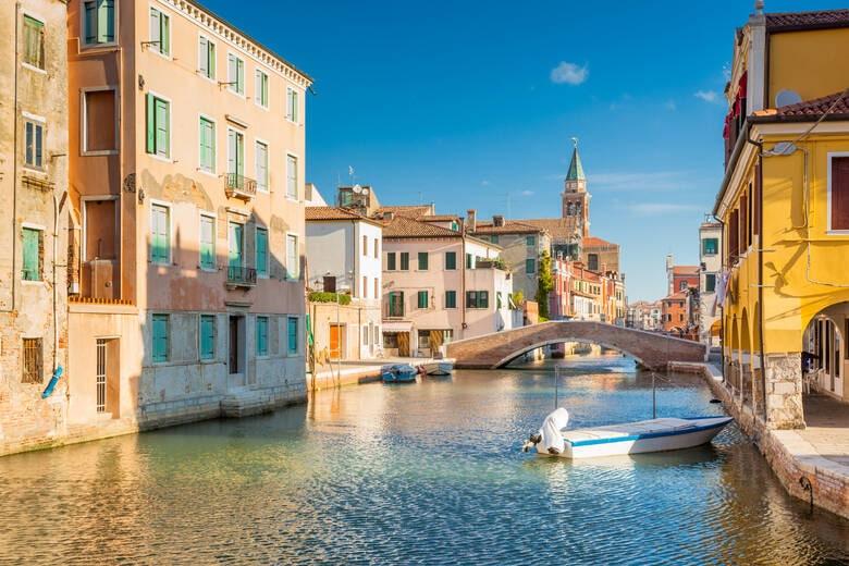 Blick auf die Känale von Chioggia