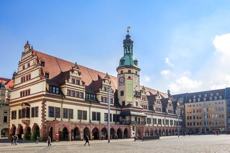 Die Innenstadt von Leipzig