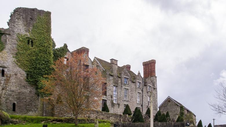Hay Castle in Hay-on-Wye in Wales