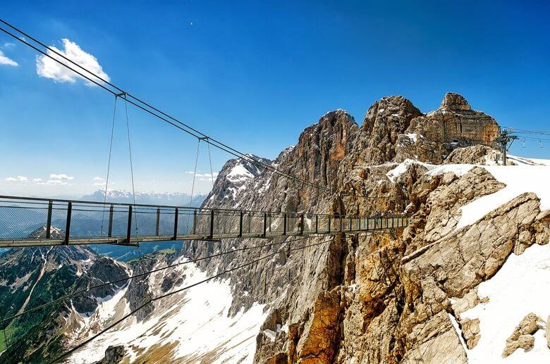 Glasplatteau am Hohe Dachstein in Österreich