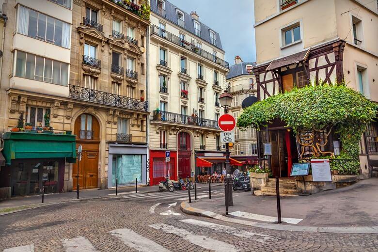 Künstlerviertel Montmartre in Paris