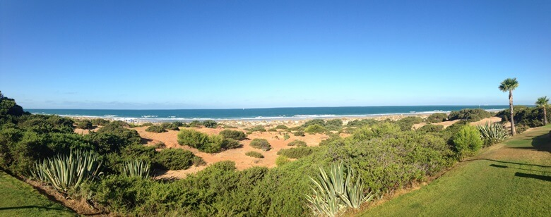 Playa de la Barrossa bei Cadiz in Südspanien
