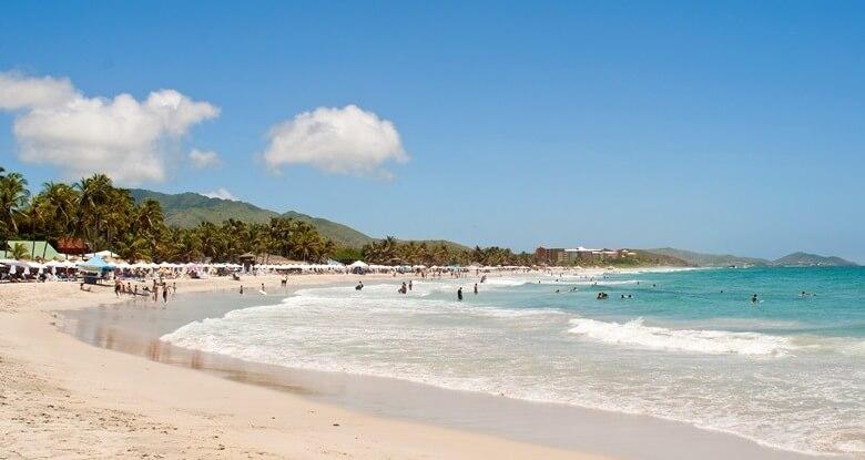 Palmenstrand Playa El Aqua in Venezuela