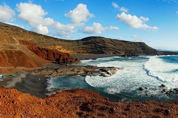 Schwarzer Strand Playa el Golfo auf Lanzarote