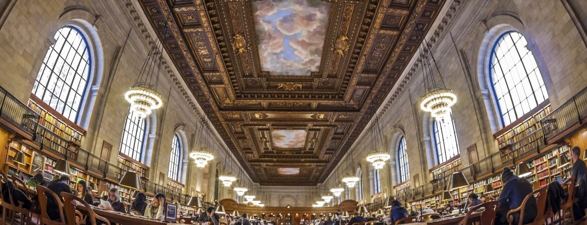 Lesesaal in der Public Library in New York