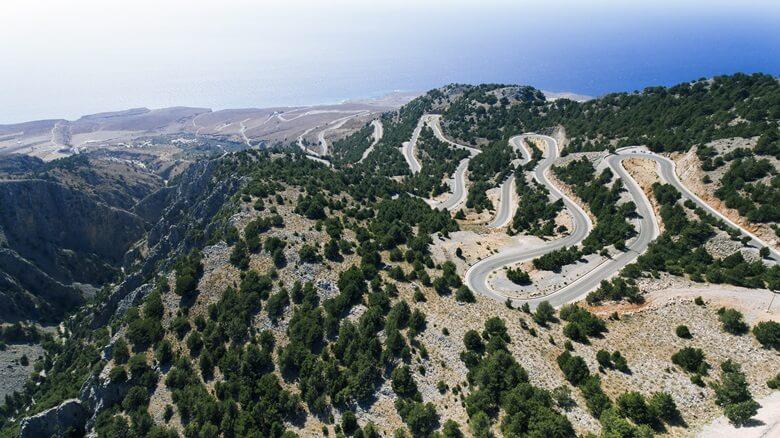 Serpentinenstraße Sa Calobra auf Mallorca