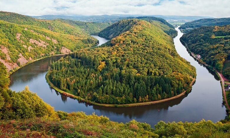Die berühmte Saarschleife in Deutschland