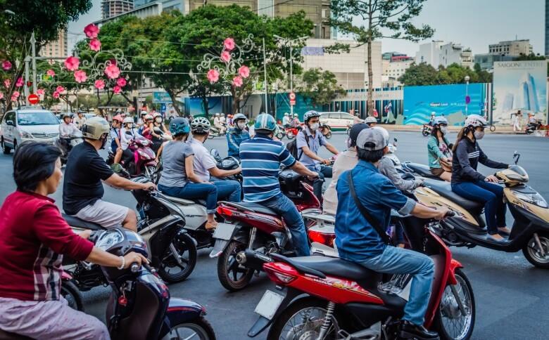 Verkehr in der vietnamesischen Hauptstadt Saigon