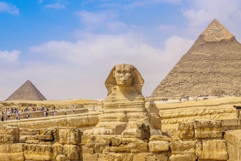 Sphinx und Pyramiden in Ägypten