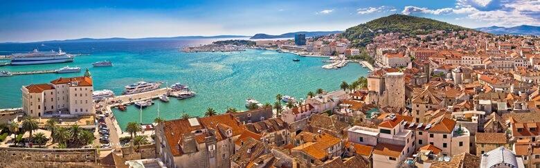 Blick über die Stadt Split in Kroatien