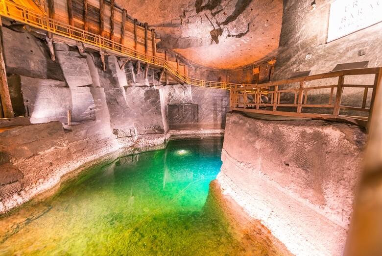 Grotte in der Wieliczka-Salzmine in Polen