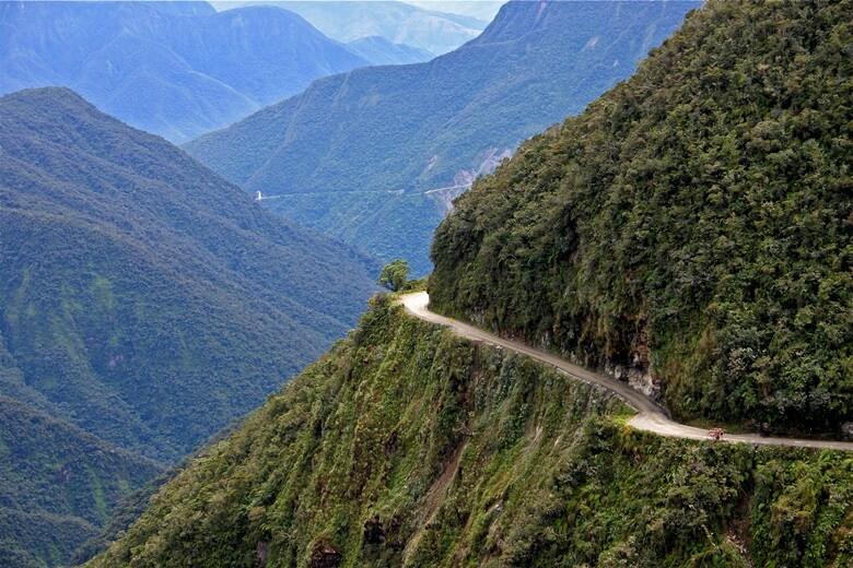 Die gefährliche Yungas Road in Bolivien