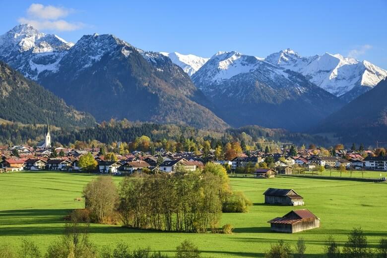Erstes Ziel des Zipfelpass: Oberstdorf im Allgäu