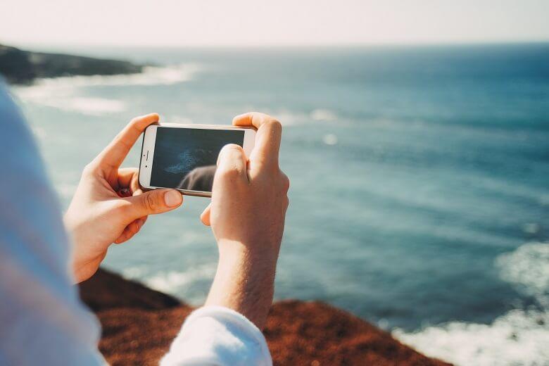 Smartphone unterwegs