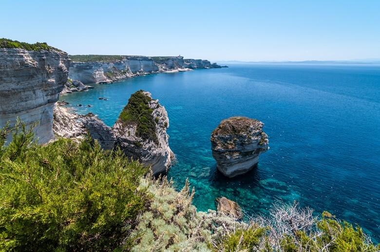 Die traumhafte Küste von Bonifacio auf Kroatien