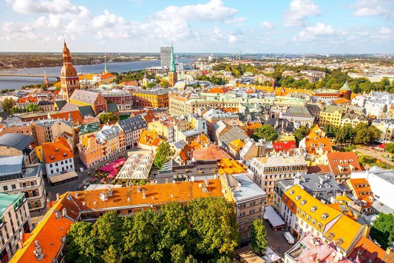 Blick über die lettische Hauptstadt Riga