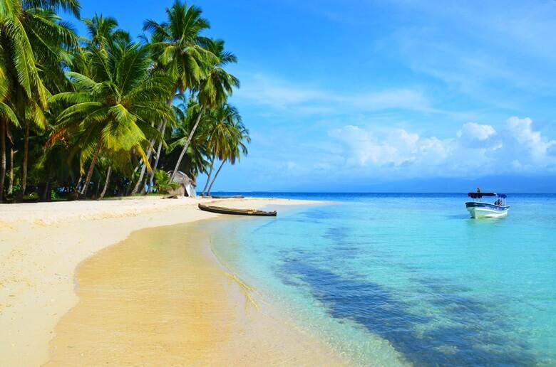 Traumstrand auf San Blas bei Panama