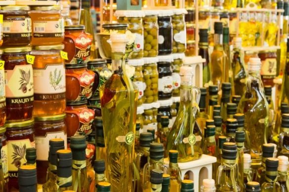 Auswahl an Essen in Kroatien