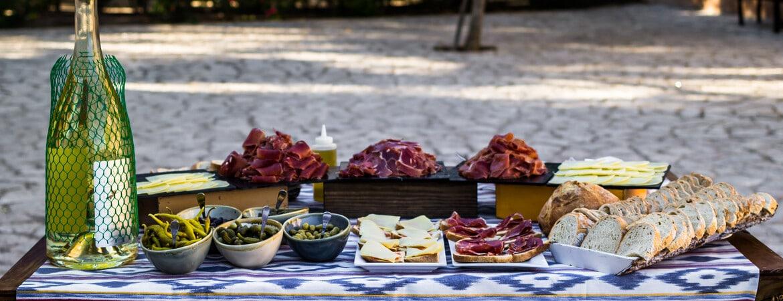Essen am Strand von Mallorca, Spanien