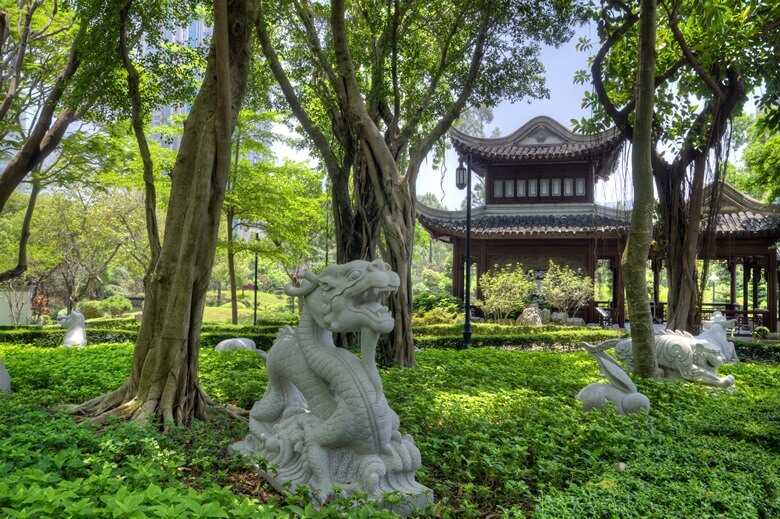 Der Kowloon Park in Hongkong