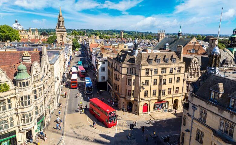 Blick auf Oxford in Südengland