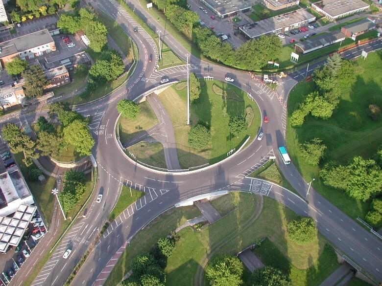 Kreisverkehr in Großbritannien