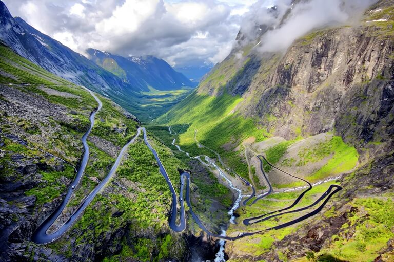 Panoramastraße Trollstigen in Norwegen