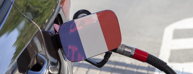 Tankdeckel mit französischer Flagge