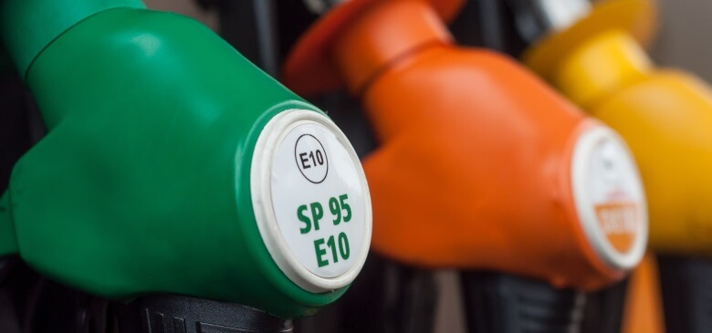 Kraftstoffe an einer Tankstelle in Frankreich