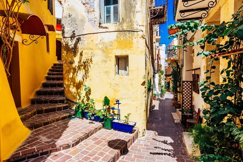 Malerische Gassen in Chanias Altstadt auf Kreta