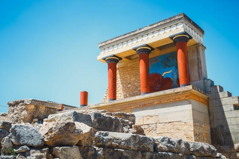 Palast von Knossos in der Nähe von Heraklion auf Kreta