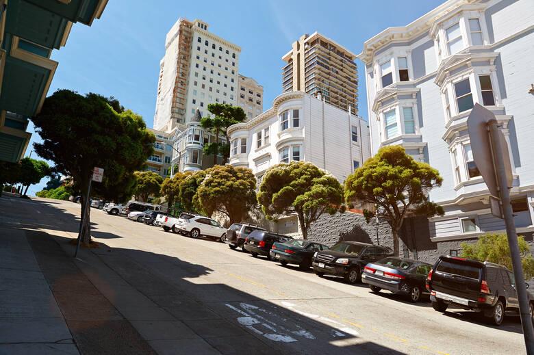 Autos parken in San Francisco