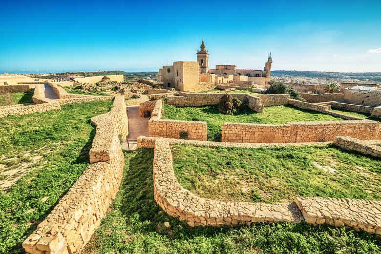 Victoria, Gozo island, Malta: Ruinen einer Siedlung