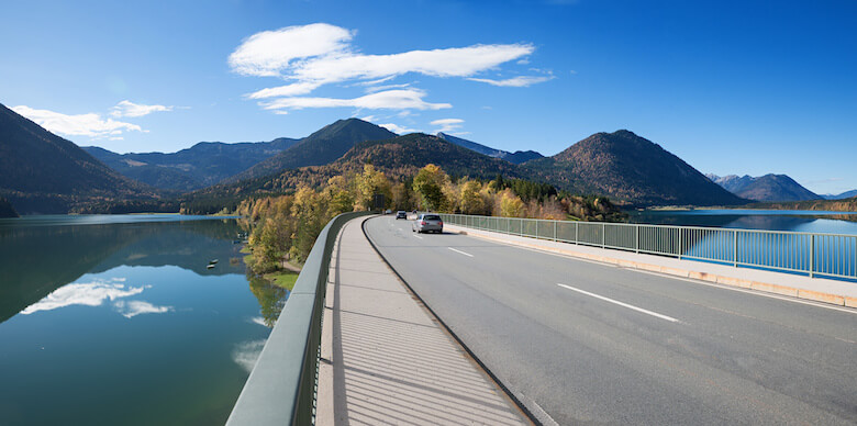 Sylvensteinbrücke in Bayern