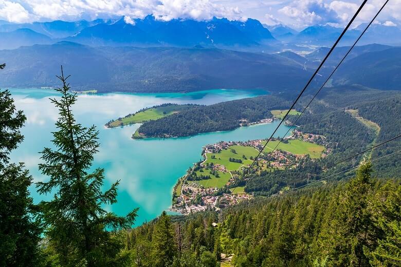 Blick auf den Walchensee in Bayern