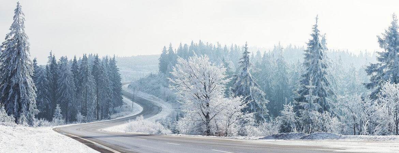 Verschneite Winterlandschaft in Deutschland