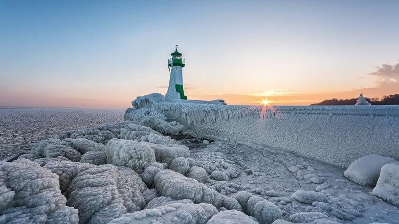 Winter in Sassnitz auf der Insel Rügen