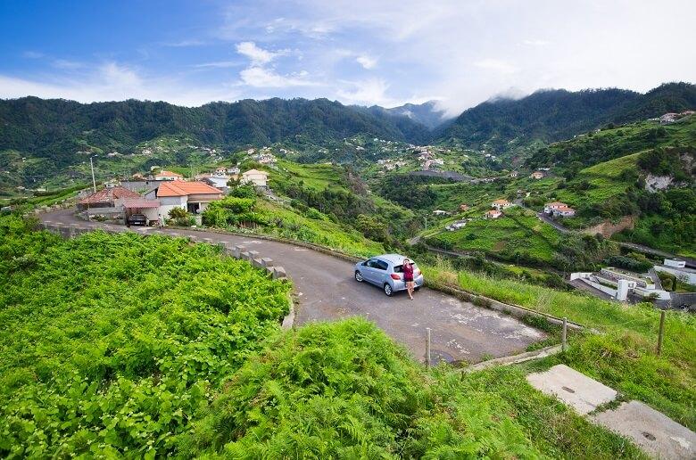 Auto auf der Insel Madeira