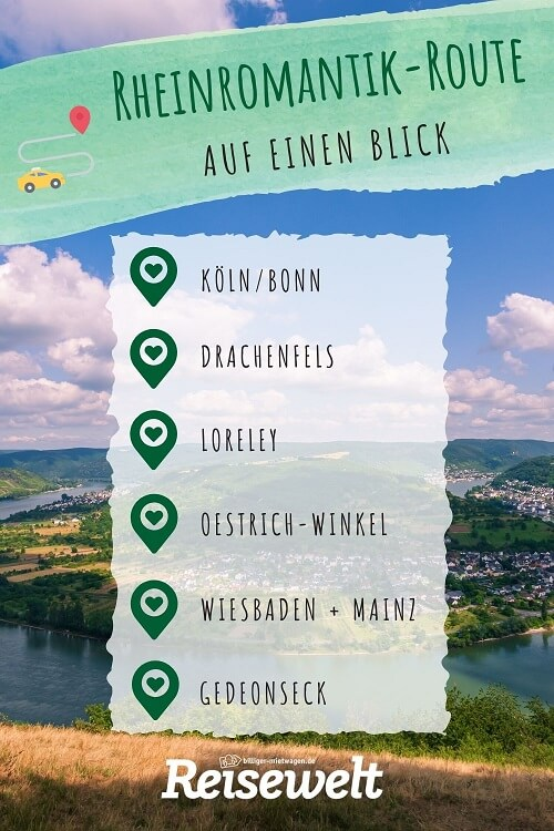 Route der Rheinromantik auf Pinterest merken