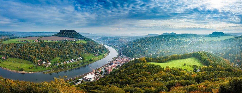 Blick über die Sächsische Schweiz