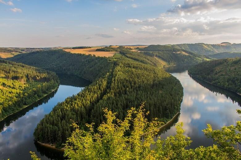 Saaleschleife am Thüringer Meer