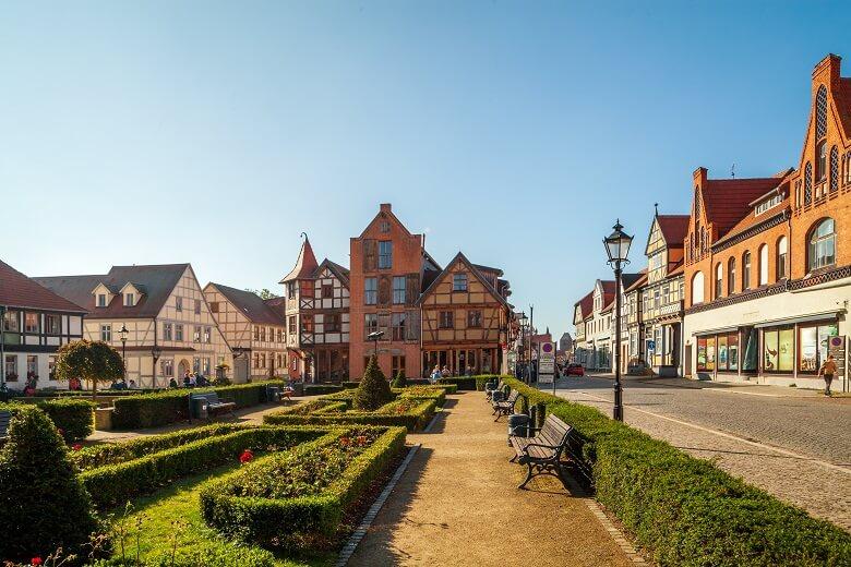 Stadtkern in Tangermünde an der Elbe