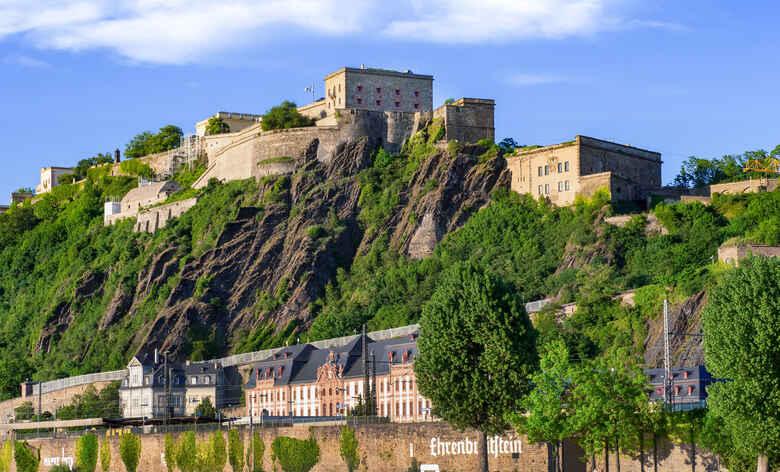 Festung Ehrenbreitstein in Koblenz an der Mosel