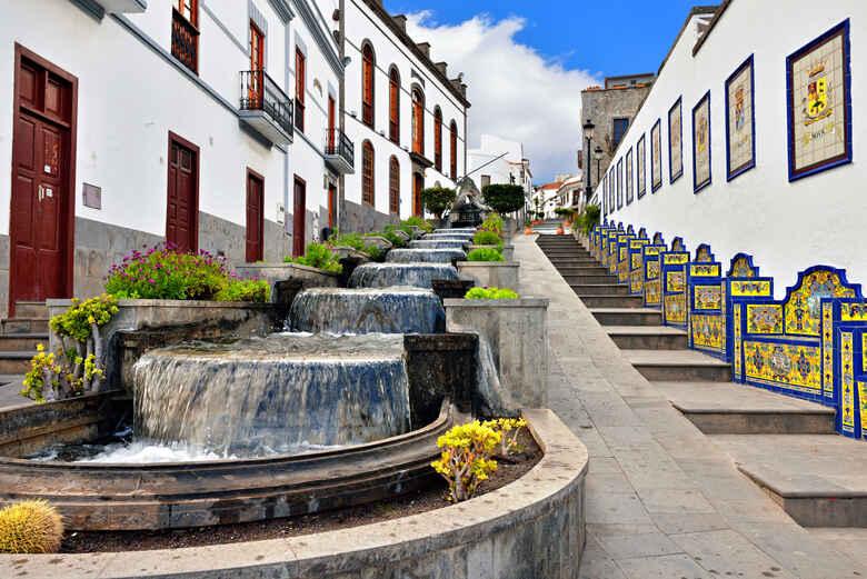Wasserfall in Firgas, Gran Canaria