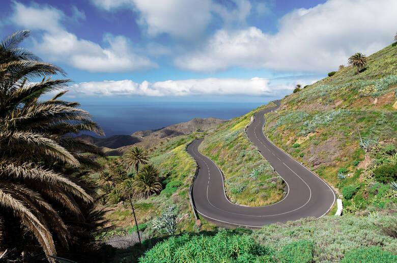 Serpentinenstraßen auf La Gomera