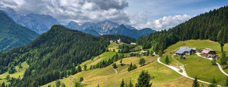 Solčava-Panoramastraße in Slowenien