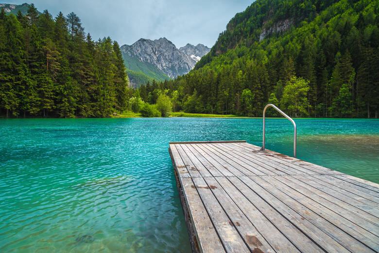 Plansarsko Jezero ist ein Alpensee in Slowenien