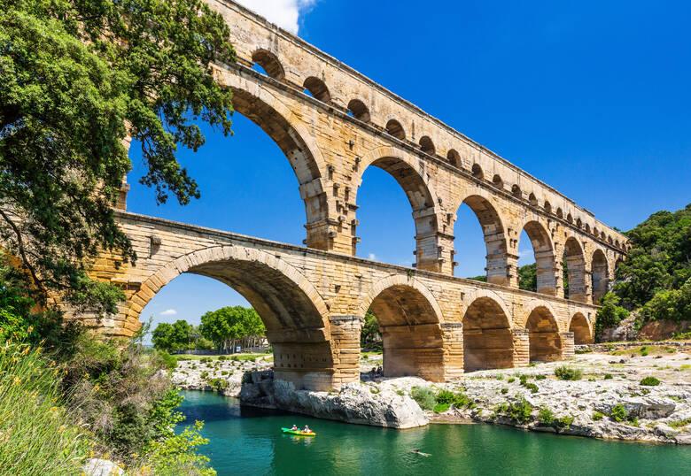 Pont du Gard, Kajak
